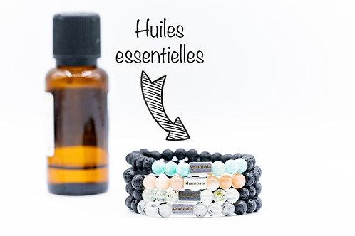 Bracelet support huile essentielle