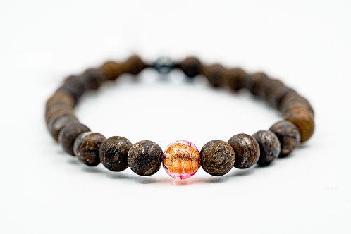 Bracelet Murano Bronzite