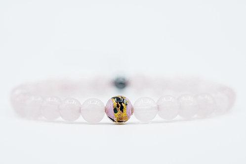 Bracelet Murano Quartz Rose