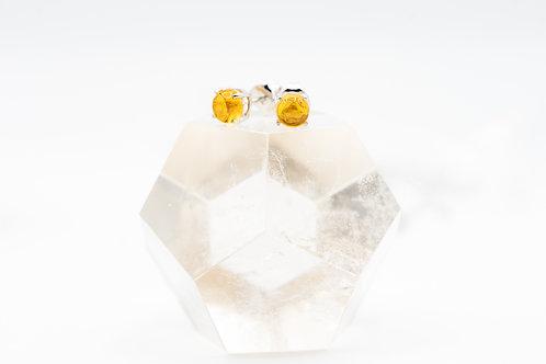 Boucles d'oreilles de pierre extra pure sur argent 925