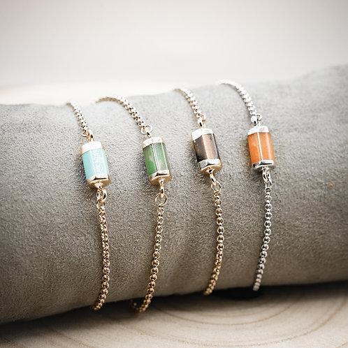 Bracelet fin pierre au choix