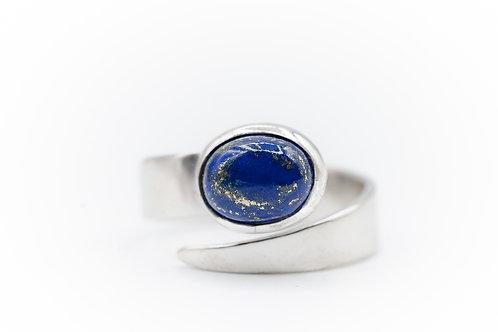 Bague de Lapis Lazuli sur Argent 925