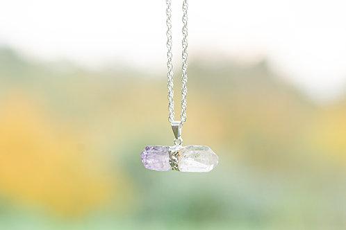 Pendentif 2 cristaux