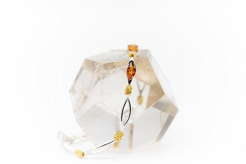 Bracelet d'Ambre sur agent925 et vermeil