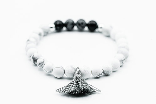 Bracelet Poupidou Howlite et Labradorite