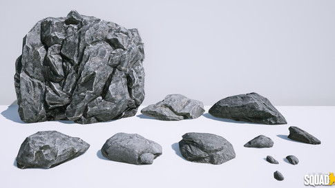 Rock asssets: Model, Texture, Materials
