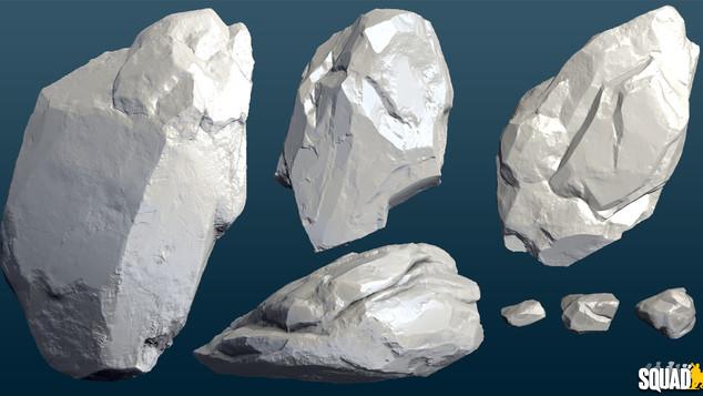 Rocks: Zbrush Sculpt