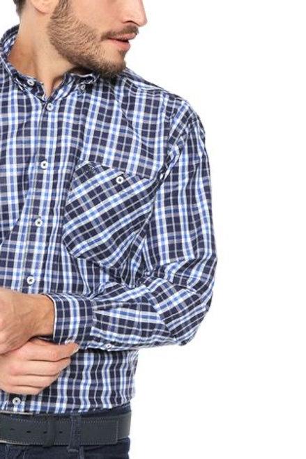 Camisa Xadrez Azul