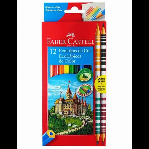 EcoLápis de Cor Faber Castell 12 Cores