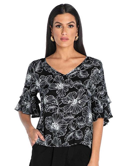 Blusa Floral Black