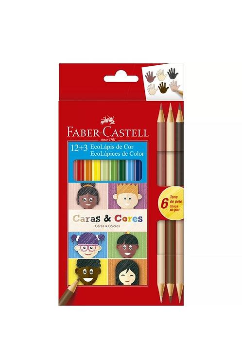 Lápis de Cor Caras e Cores Faber Castell