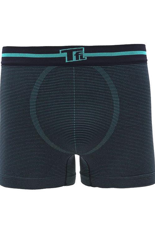Cueca Boxer Sem Costura Trifil Marinho/Turquesa
