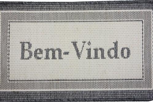 Tapete Bem-Vindo - Prata Têxtil