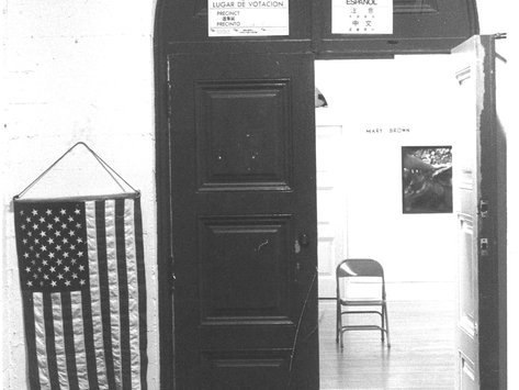 c. 1982 Voting in the Diego Rivera Gallery