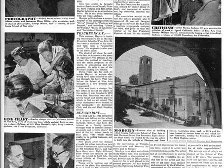 "1948 ""World Fame,"" Stanley Hayter, Harlan Jackson, Clay Spohn, Ansel Adams, Minor White"
