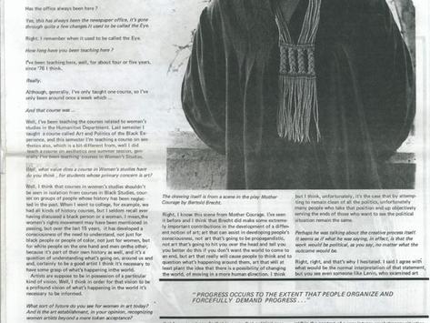 "Angela Davis, SFAI, Student Journalism, ""The Toot"""