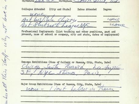 1962-1965 Kenneth Rexroth SFAI Faculty