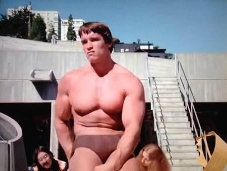 1977 Arnold Schwarzenegger at SFAI