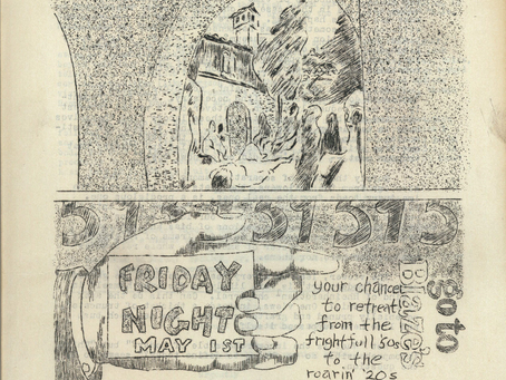 """1959 """"The Tower"""" a student newspaper, & Giant Frog"""