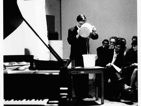 1965 Charles Boone, John Cage's Water Music, Diego Rivera Gallery