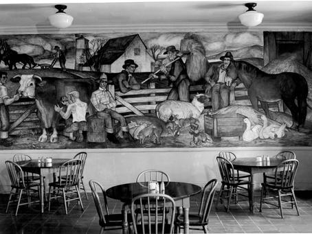 1937 Una McCann, SFAI Lost Frescoes, Bay Bridge, Diego Rivera, Studio 26