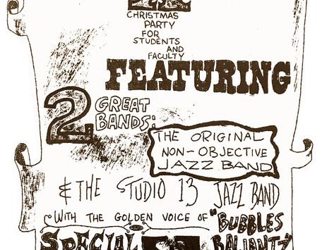 1959 Happy Holidays, SFAI, Studio 13 Jass Band, Bubbles Baliantz, & Pabst Blue Ribbon