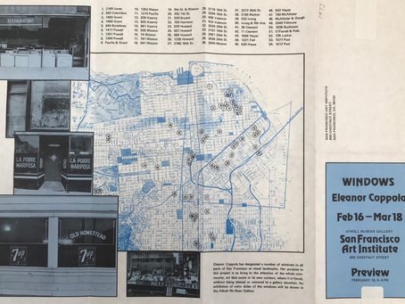 1973 Eleanor Coppola, Maps, Color Photography, Carlos Villa, Lynn Hershman