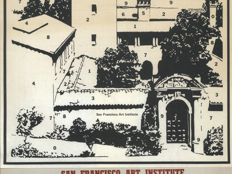 1982 SFAI Color by Numbers Calendar
