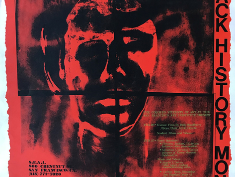 """1988 """"Celebrate Black History Month"""" SFAI Student Poster"""