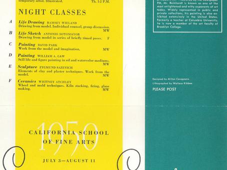 1950 Ad Reinhardt Summer Faculty SFAI
