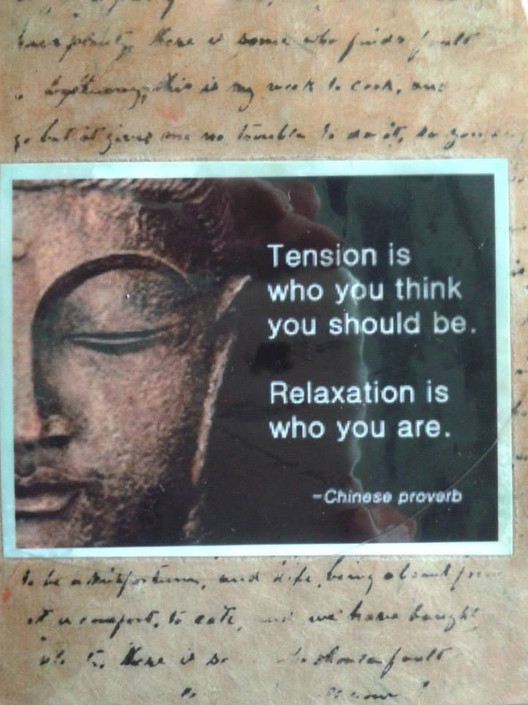 tension is who you think you should be.j