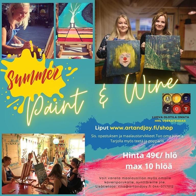 Paint and Wine 13.8. klo 17-19