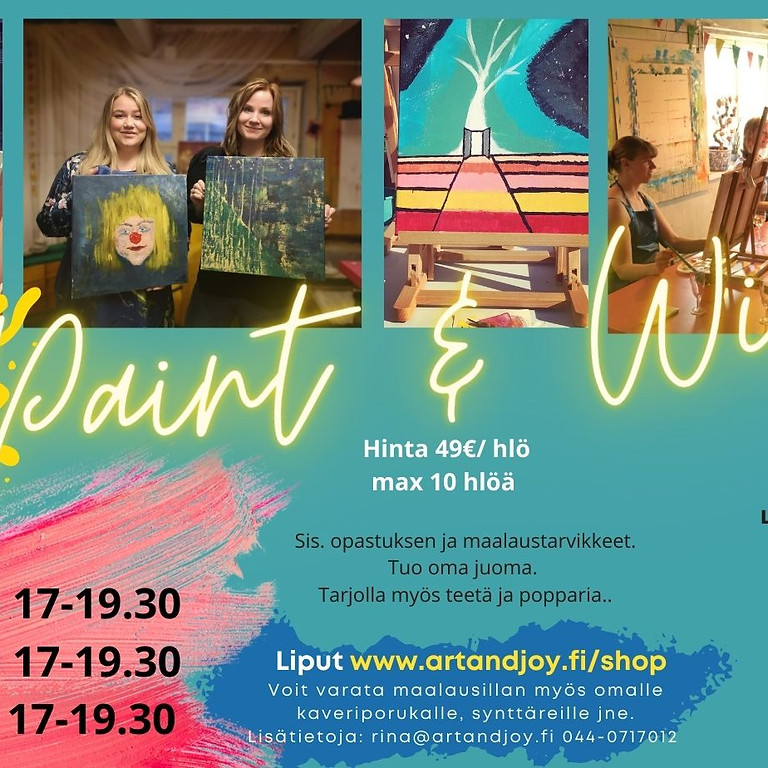 Paint and Wine 18.6. klo 17-19.30