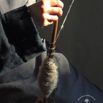 Hilando lana