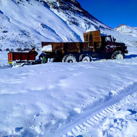 Camión en invierno