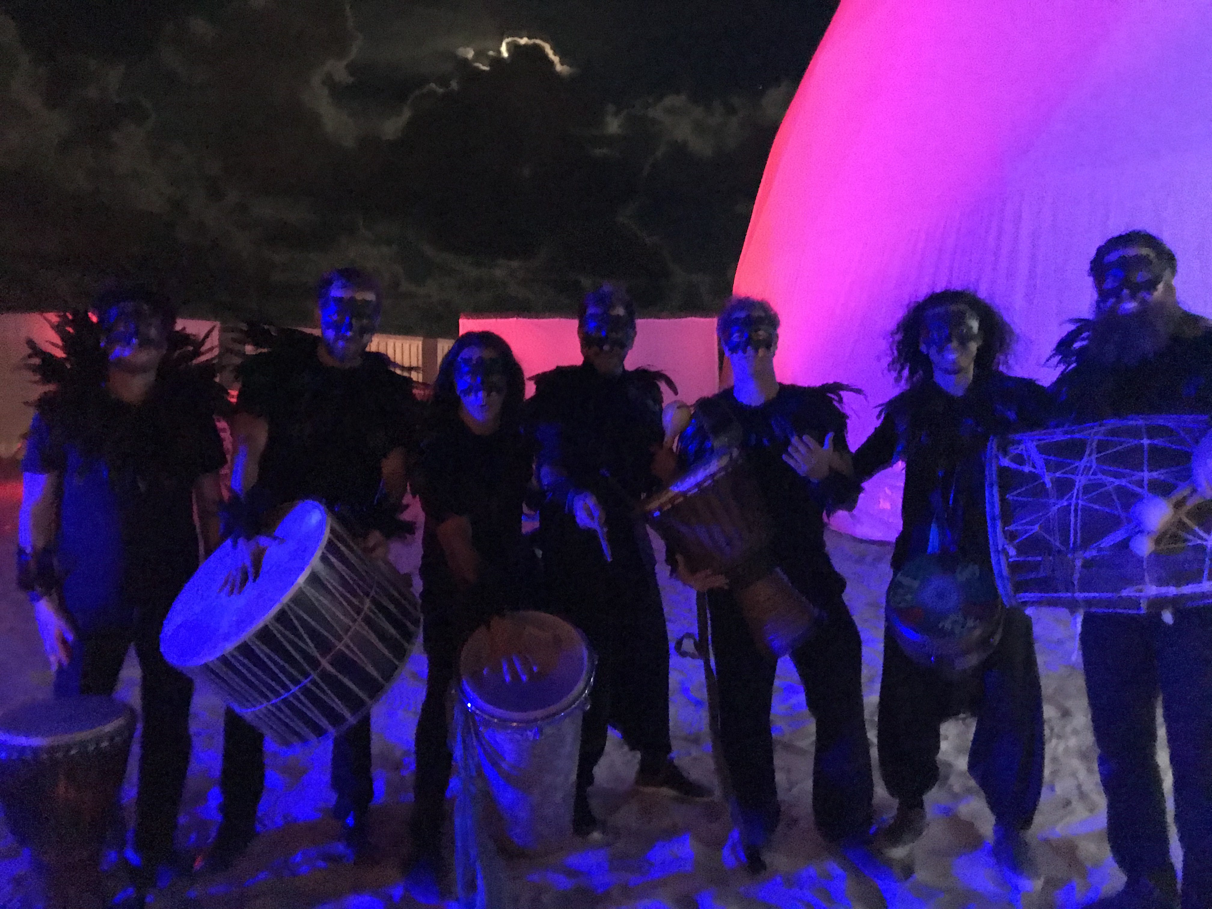 Art Basel Drum Performance