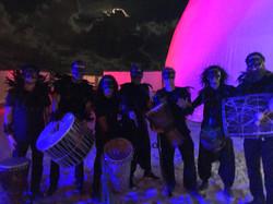 Art Basel Drum Performance