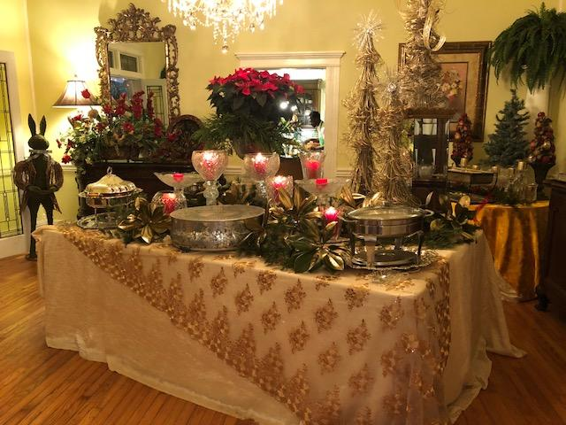 serving buffet table