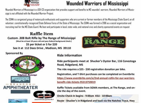 CANCELLED DUE TO COVID-19   2nd ANNUAL ROLLING FOR OUR WARRIORS MOTORCYCLE RIDE sponsored by State G