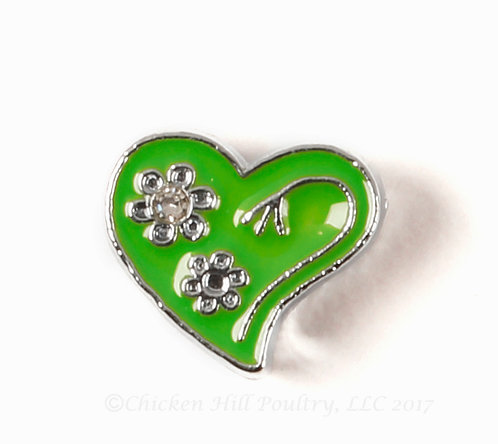 Heart N Flowers - Green