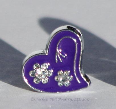 Heart N Flowers - Purple
