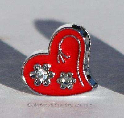Heart N Flowers - Red