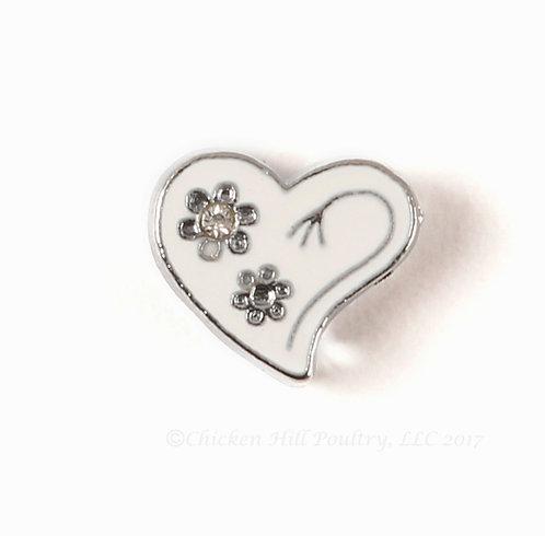 Heart N Flowers - White