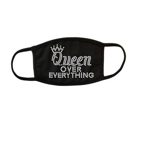 Queen over everything Bling Mask