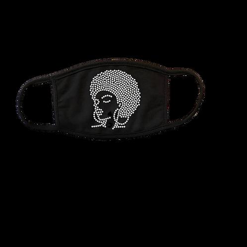 Afro Lady Bling Mask