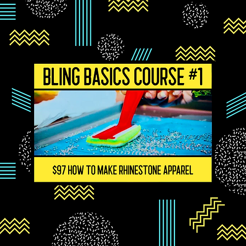 BLING BASIC #1 (How to make rhinestone apparel)
