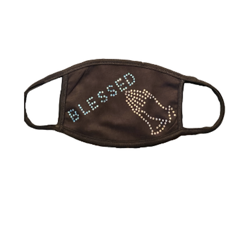 Blingologist Face Mask Kit/Block Blessed Letters