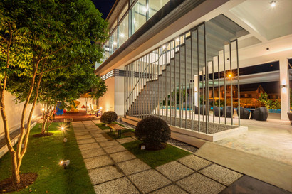 Playground at Clubhouse during evening time