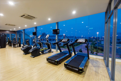Gym at Evening Time