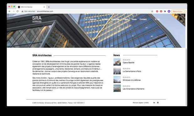 SRA - habillage site web